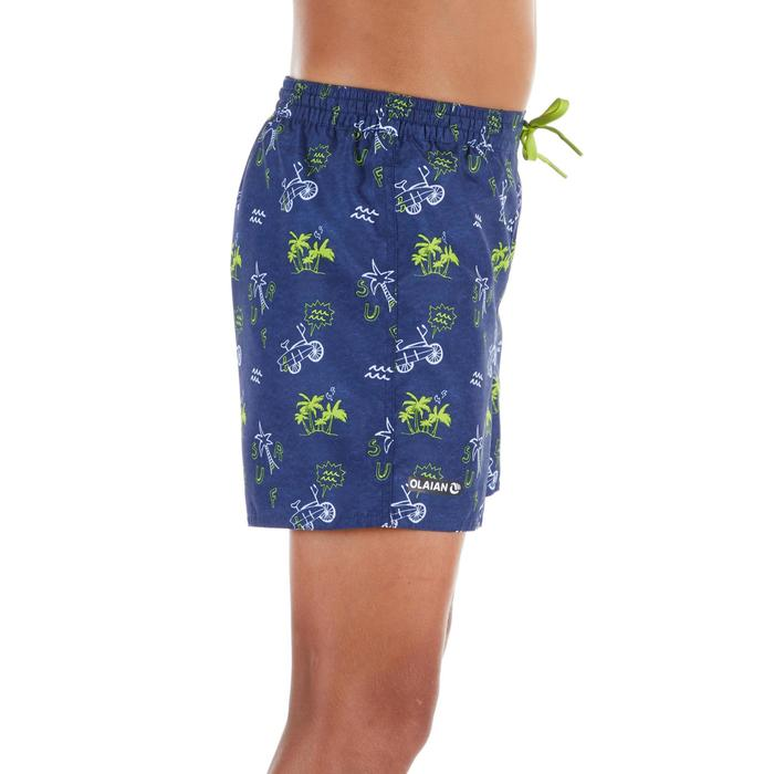 100 Kids' Short Surfing Boardshorts - Palmitos Blue
