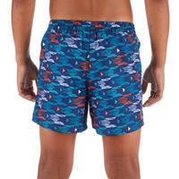 100 Kids' Short Surfing Boardshorts - Pacific Red