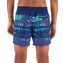 Surf Boardshort court 500 Tween Palme Blue