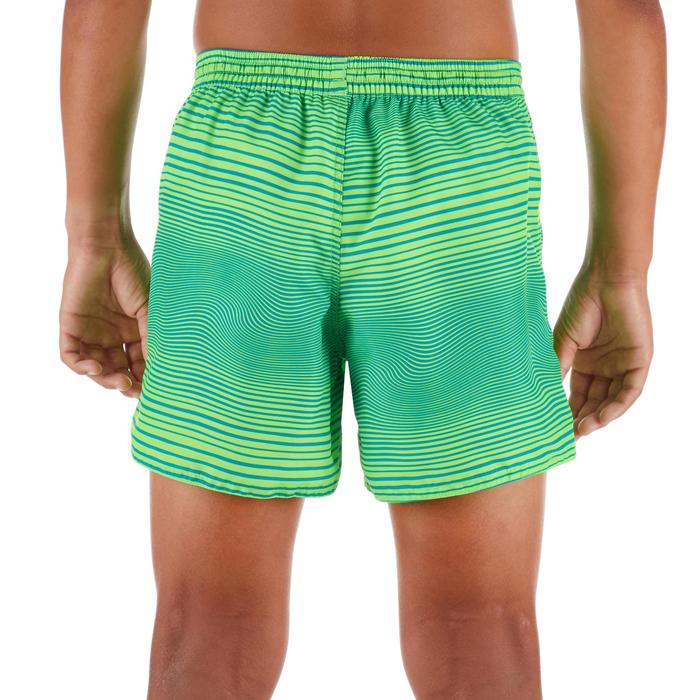 Kurze Boardshorts Surfen 100 Tween Echo Kinder grün