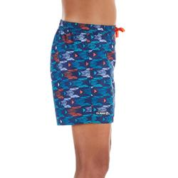 Kurze Boardshorts Surfen 100 Pacific Kinder rot