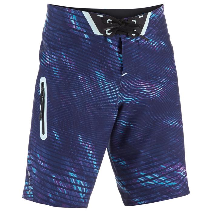 Lange Boardshorts Surfen 900 Tween Obscurwave Kinder blau