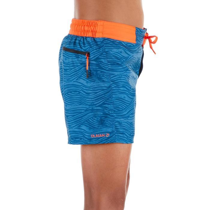 Surf Boardshort court 500 Tween Linowave Turquoise