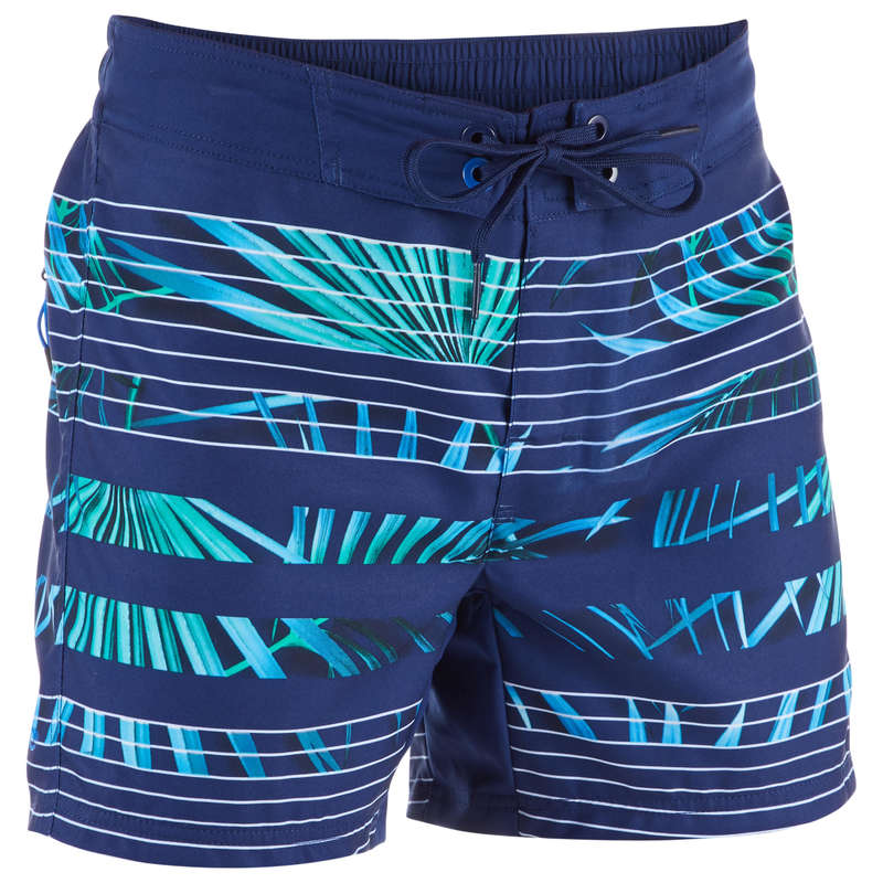 BOY'S BOARDSHORTS Swimwear and Beachwear - BBS 500 Tween - Palm Blue OLAIAN - Swimwear and Beachwear