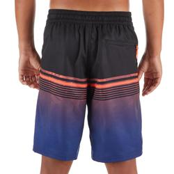 Lange Boardshorts Surfen 500 Tween Light Kinder blau/schwarz