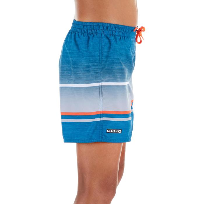Kurze Boardshorts Surfen 100 Pacific Sunset Kinder blau