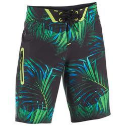 352215c0f Bañador Largo Surf Olaian 900 Tween Neon Palme Niño Verde