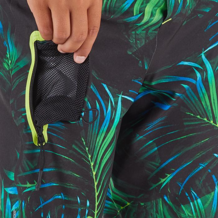 Surf Boardshort long 900 Tween Neon Palme Green