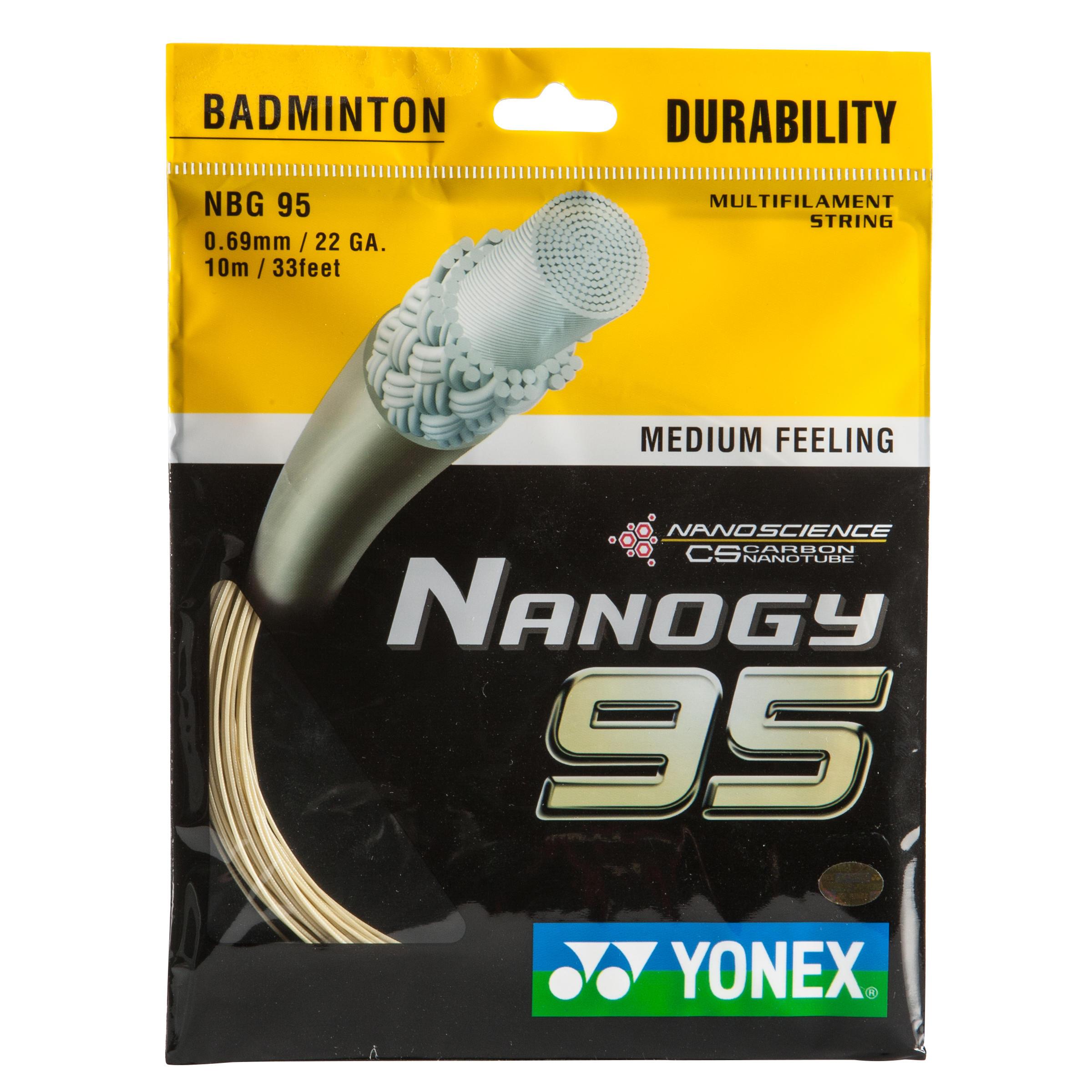 Yonex Badmintonsnaar Nanogy 95 wit