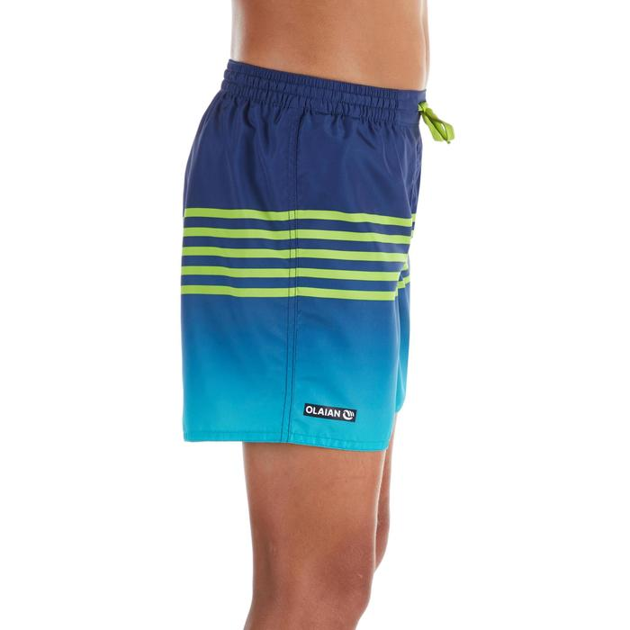 Surf Boardshort court 100 Kid Stripy Green
