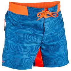 Surf Boardshort corto 500 Tween Linowave Azul turquesa
