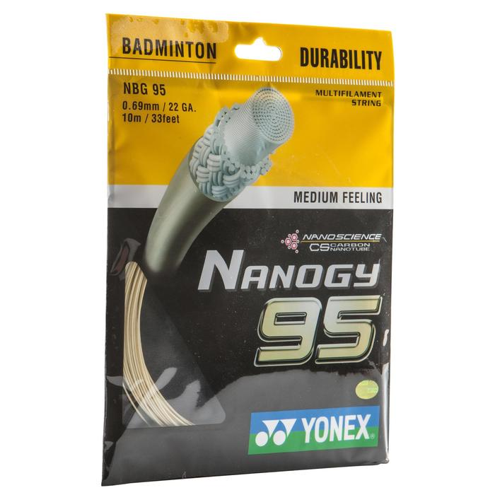 Badmintonbesnaring Nanogy 95 wit