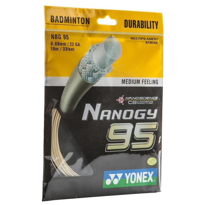 CORDAGE DE BADMINTON NANOGY 95 BLANC - 153582