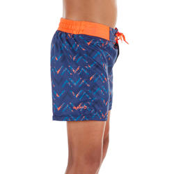 500 Kids' Short Surfing Boardshorts - Chibou Red