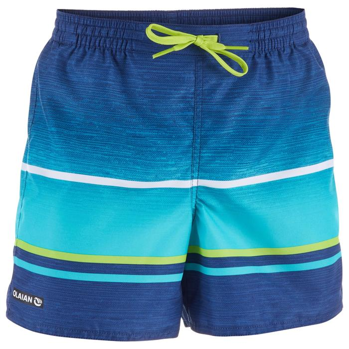 Kurze Boardshorts Surfen 100 Tween Pacific Sunset Kinder grün