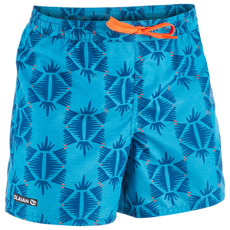 BOY'S BOARDSHORTS Swimwear and Beachwear - BBS 100 Tween Ethnic Turquoise OLAIAN - Swimwear and Beachwear