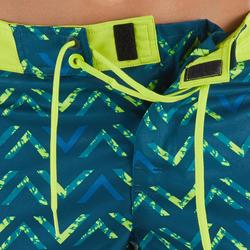 Surf Boardshort court 500 Kid Chibou Green