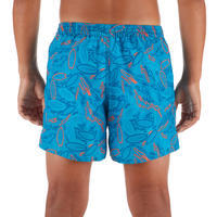 100 Kids' Short Surfing Boardshorts - Turquoise