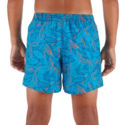 Surf Boardshort court 100 Kid Turquoise