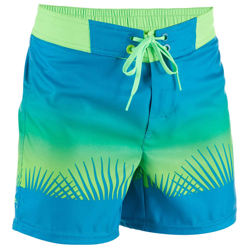 BOY'S BOARDSHORTS Clothing - BBS 500SE Kids' - Tropy Green OLAIAN - Swimwear and Beachwear