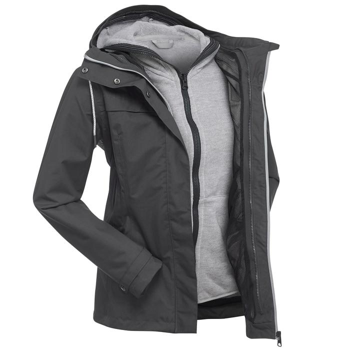 3-in-1 damesjas voor backpacking Travel 100 grijs