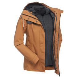 Women's Travel Trekking 3in1 Jacket TRAVEL 100 - Camel