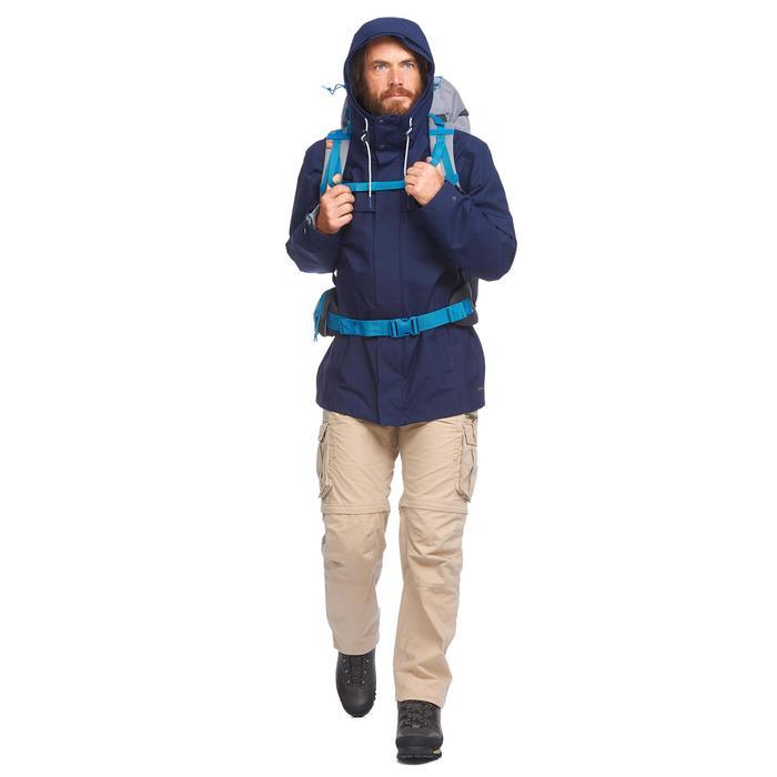 Chaqueta 3en1 trekking viaje TRAVEL 100 hombre azul