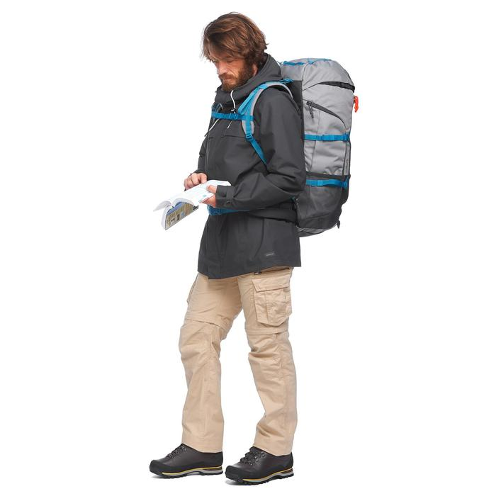 Jas 3-in-1 trekking TRAVEL 100 heren grijs