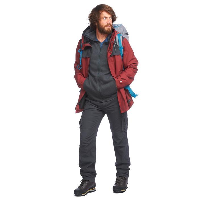 Chaqueta 3en1 trekking viaje TRAVEL 100 hombre rojo