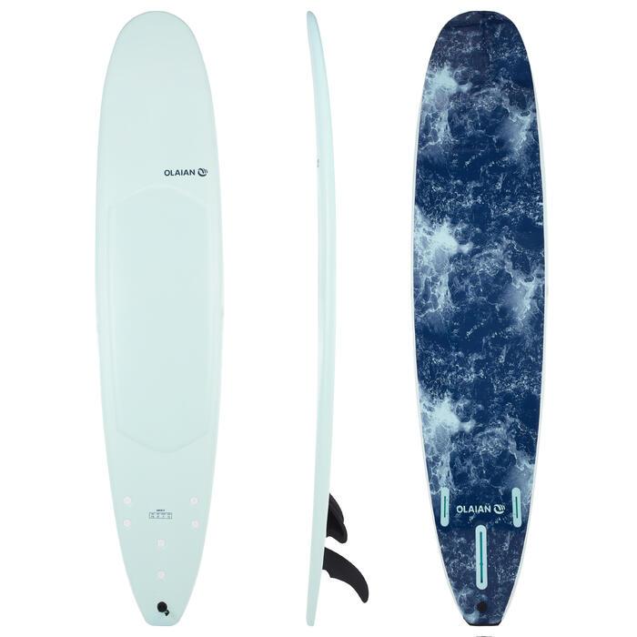 Planche de surf en mousse 9' 900 . Livrée avec 2+1 ailerons.