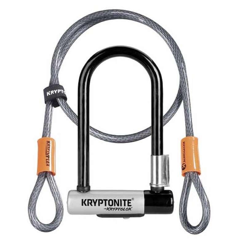 BIKE LOCKS Cycling - Kryptolock Mini-7 Bike D-Lock and Flex Cable Set KRYPTONITE - Bike Accessories