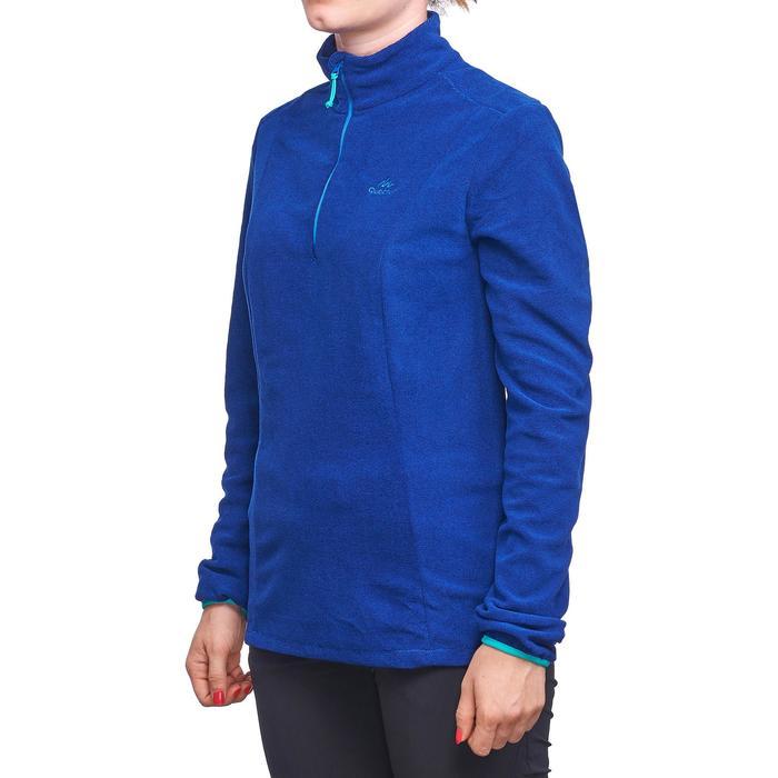Polaire de randonnée montagne femme MH100 bleu rayé