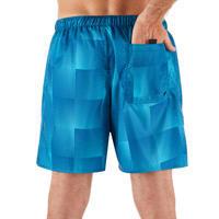 "Traje de baño Hombre Corto Surf Olaian 100 Square Blue 16"""