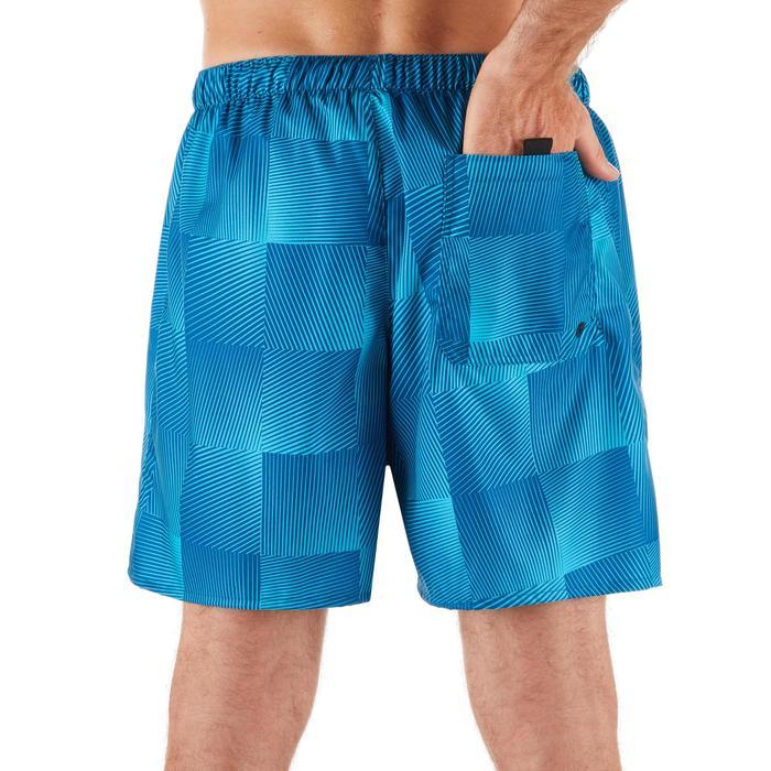 Calções de Praia Curtos Homem Surf 100 Square Azul