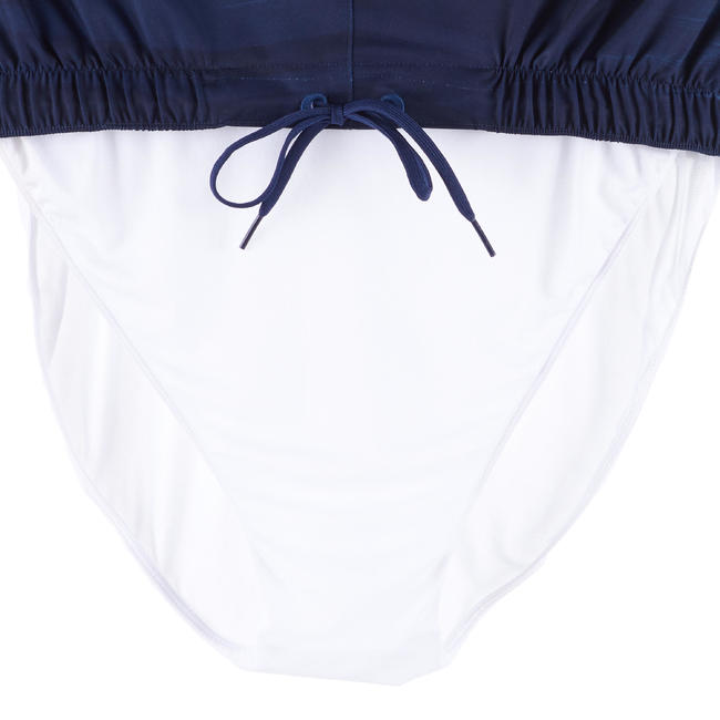 MENS SURFING BOARDSHORTS 100 LONG - CLOUD BLUE