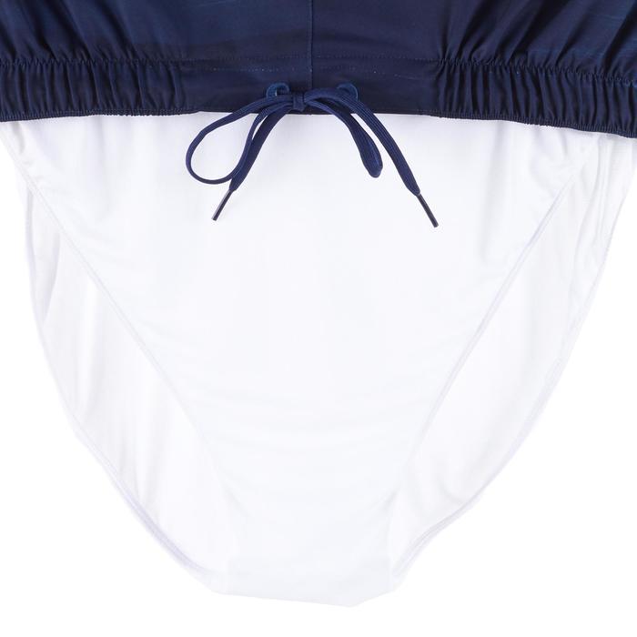 長版衝浪褲100-雲朵款藍色