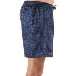 Surf boardshort kort 100 Labyrinthe Black