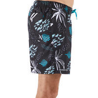 100 Short Surfing Boardshorts - Popfloral Black