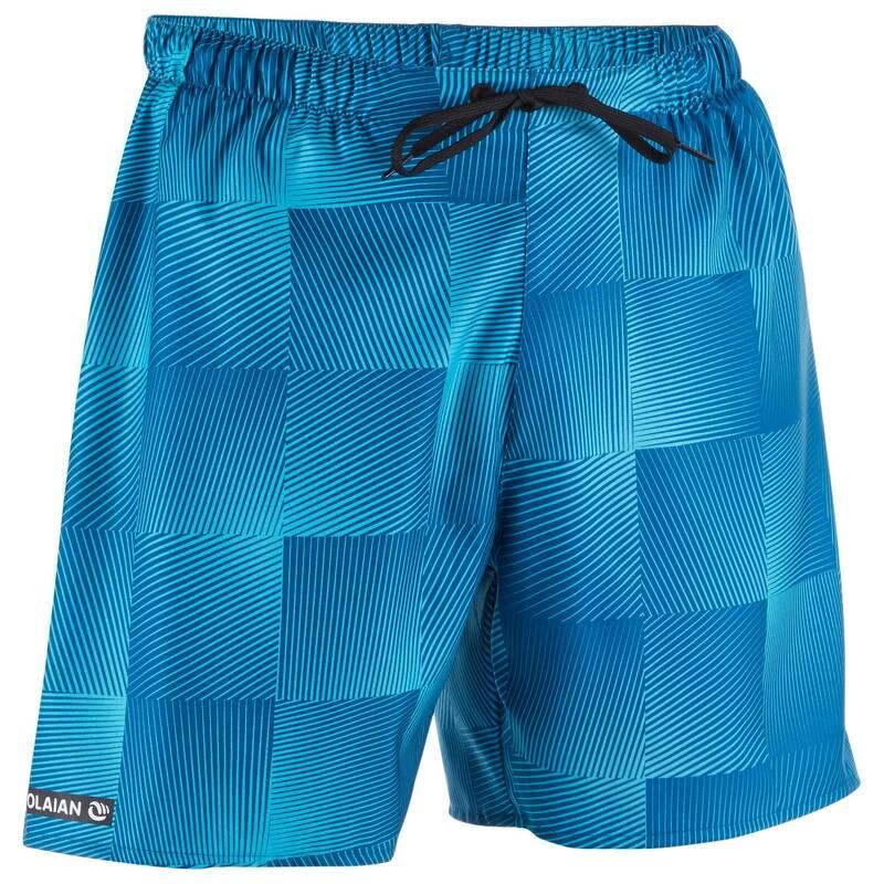 PÁNSKÉ BOARDOVÉ ŠORTKY Beach volejbal - KRAŤASY BBS 100 SQUARE BLUE OLAIAN - Oblečení na beach volejbal