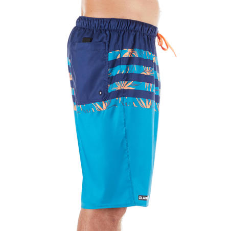 Celana Selancar Selutut 100 - Flostripe Blue