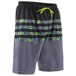 Surf boardshort long 100 Flostripe Grey