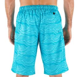 Surf boardshort long 100 Fake Stamp Turquoise