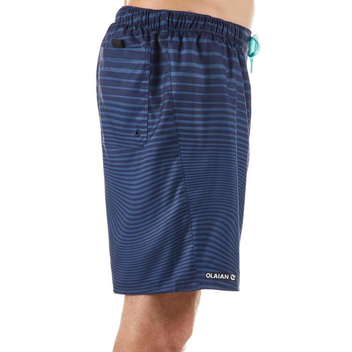 衝浪褲100S-藍色線條款