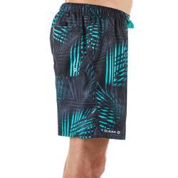 Korte heren zwembroek 100 Palm mintgroen