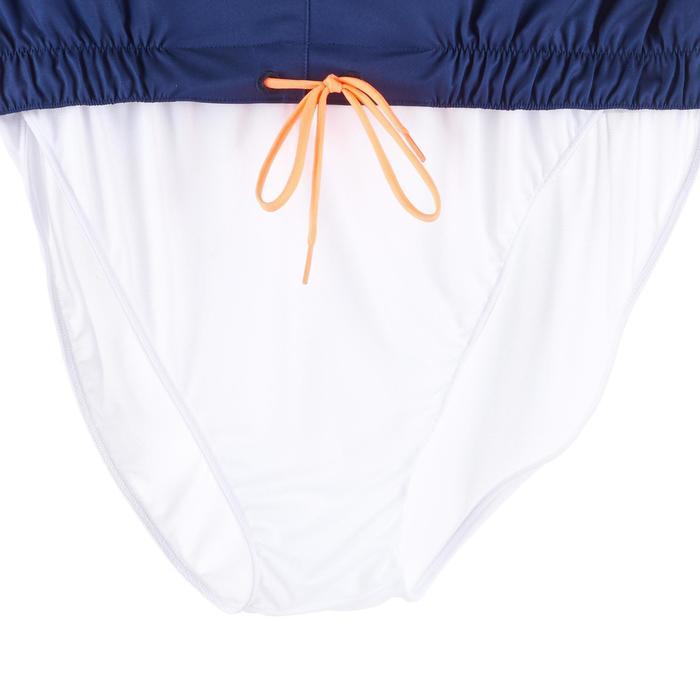 長版衝浪海灘褲100-藍色橫條紋