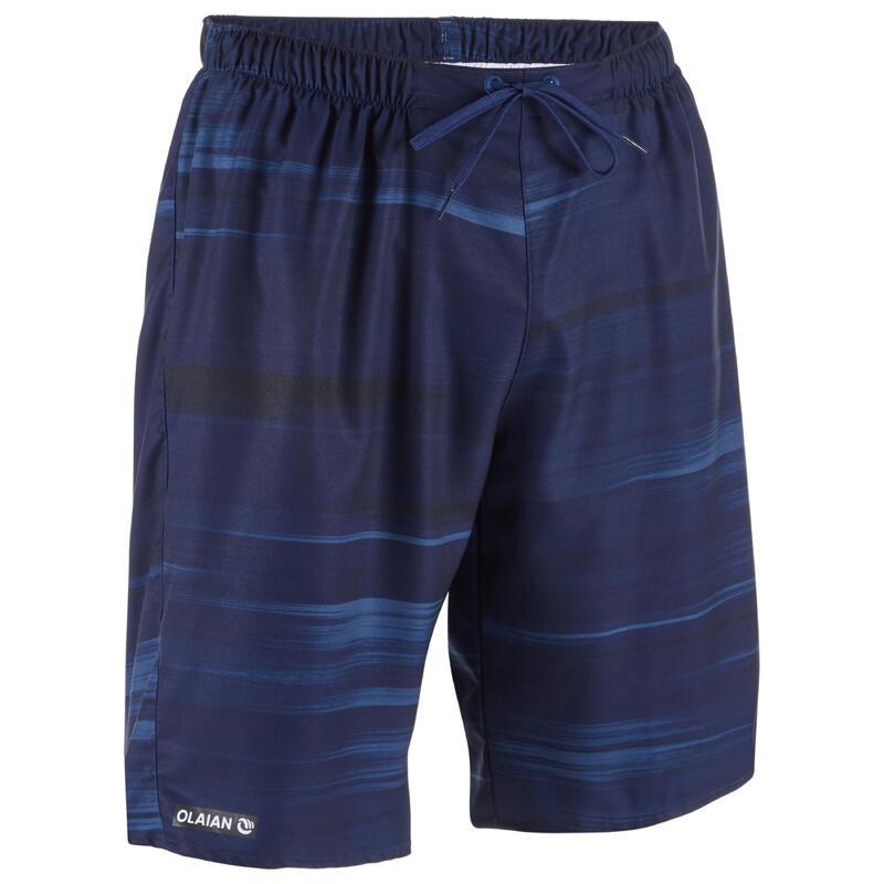 Erkek Deniz Şortu / Uzun Boardshort - Mavi - BS100