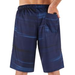 Lange Boardshorts Surfen 100 Cloud blau