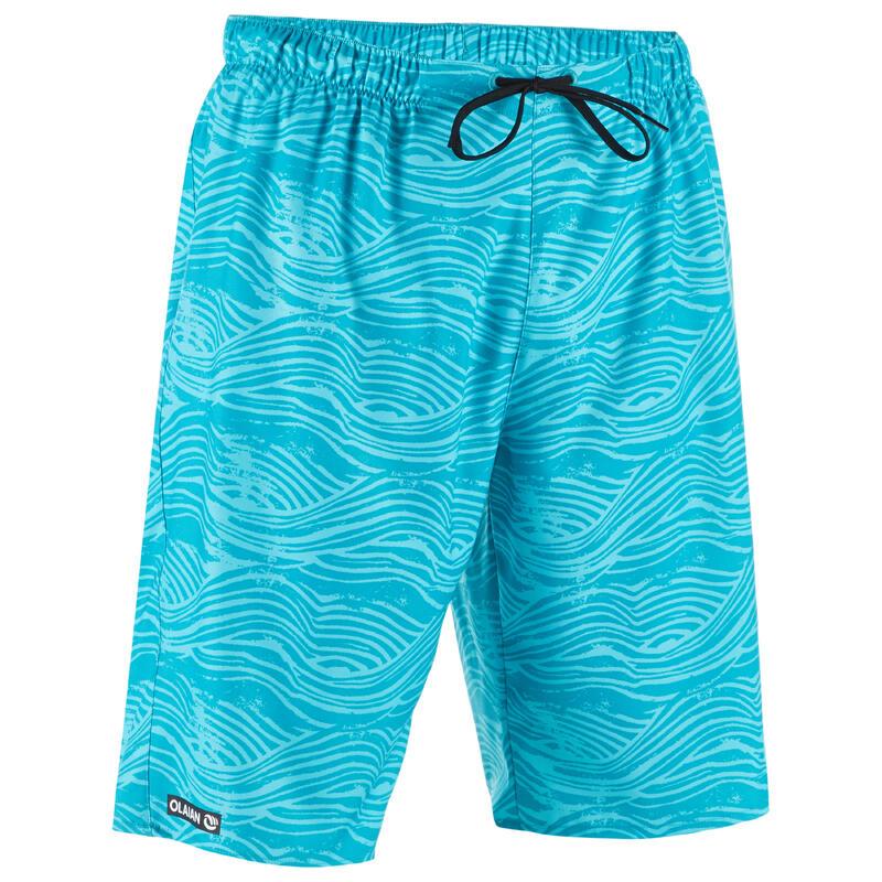 100 Long Surfing Boardshorts - Fake Stamp Turquoise