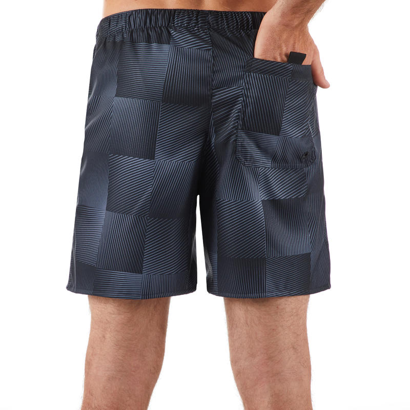 100 short surfing boardshorts Square Black