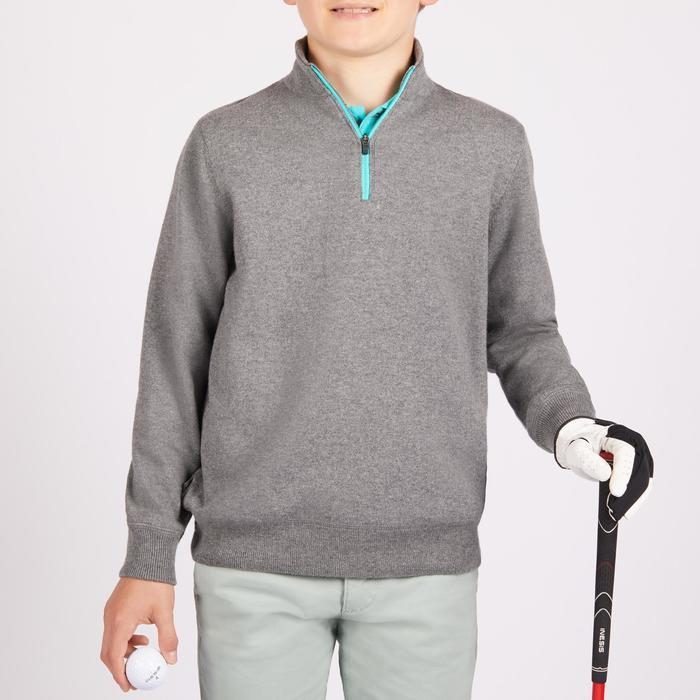 Winddichte golftrui voor kinderen grijs